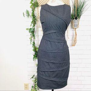 Calvin Klein grey sheath dress size 4
